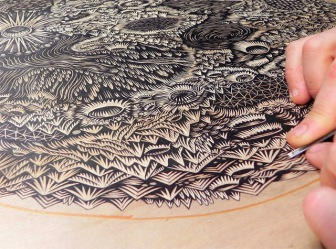 Tugboat Printshop - Moon (Detail)