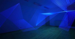 3D UV Thread Installations - Jeongmoon Choi (Beams)