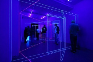 3D UV Thread Installations - Jeongmoon Choi (Doors)