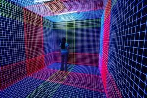 3D UV Thread Installations - Jeongmoon Choi (Square)