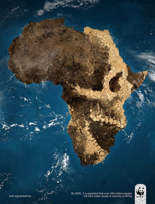 Africa Skull - WWF Water Scarcity