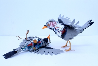 diana beltran herrera - paper bird -internal anatomy