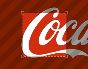 Coke logo detail