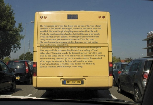 Long copy bus ad