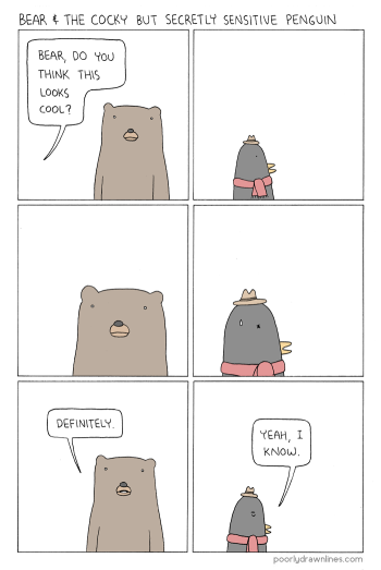 Poorly Drawn Lines - Bear and Penguin