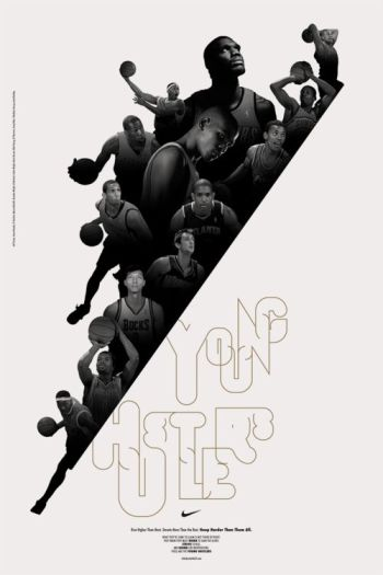 Young Hustle Nike Poster