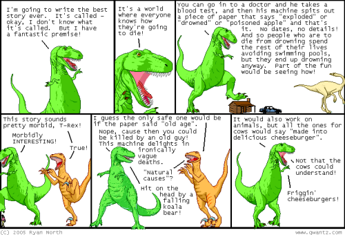 Dinosaur comics - This is how you die
