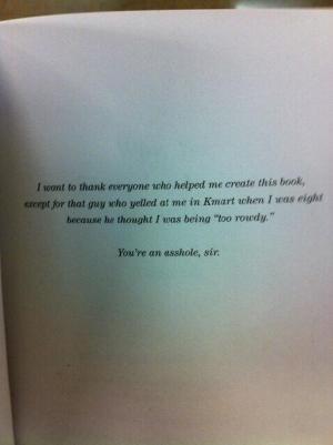 Book dedication - Asshole
