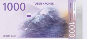 Norweigan currency - 1000 (front)