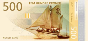 Norweigan currency - 500 (front)