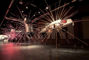 Exploding car - Cai Guo Qiang (close)