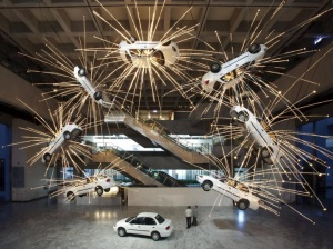 Exploding car - Cai Guo Qiang (side yellow)