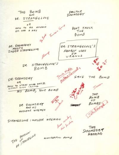 Dr Stranglove Brainstorm 2