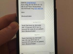 Swedish Blood Donation Text