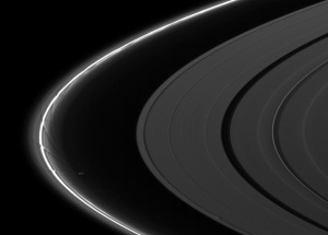 Prometheus creates an intricate pattern of perturbation in Saturn's F ring