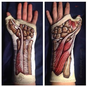 Anatomy Body Paint (arm cast) - Danny Quirk & Immaculate Dissection