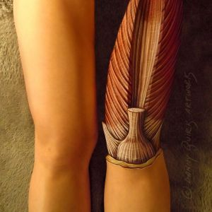 Anatomy Body Paint (leg) - Danny Quirk & Immaculate Dissection