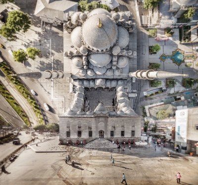Warped cities (inception) - Aydin Buyuktas - Mosque